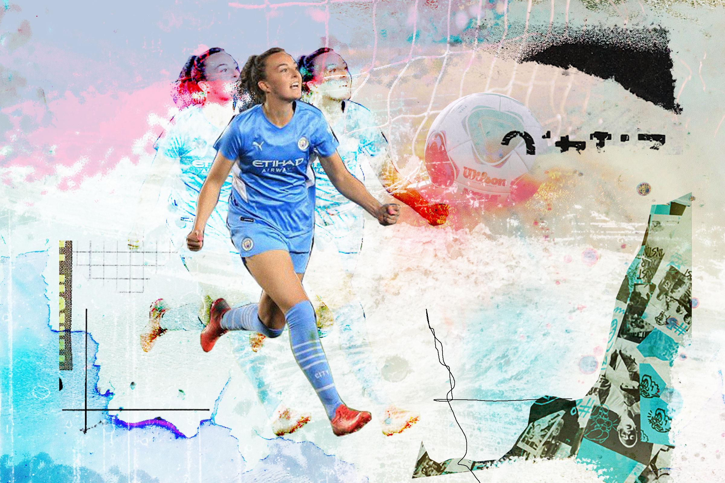 Female football player illustration